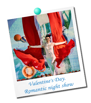 Valentine`s Day. Romantic night show
