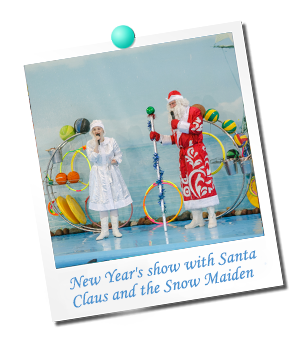 New Year`s show with Santa Claus and the Snow Maiden