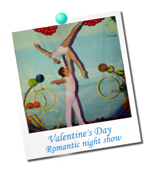 Valentine`s Day. Romantic night show 2020
